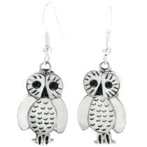 Mother of Pearl Owl Earrings 32160
