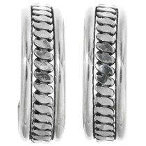Sterling Silver Hoop Earrings 32161