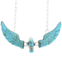 Carved Turquoise Eagle Necklace 32162