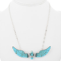 Navajo Eagle Turquoise Necklace 32162