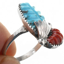 Turquoise Coral Set in Sterling Silver 32168