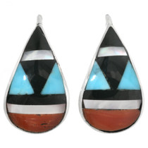Zuni Curved Turquoise Earrings 32181