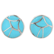 Blue Turquoise Post Earrings 32182