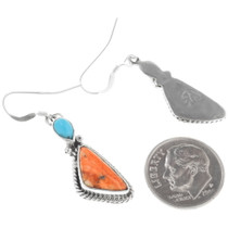 Navajo Turquoise French Hook Earrings 32186