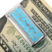 Zuni Turquoise Inlay Money Clip 32187