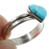 Zuni Inlay Heart Turquoise Ring 32190