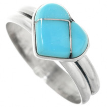 Zuni Turquoise Heart Ring 32190