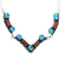 Sterling Silver Navajo Y Necklace 32191