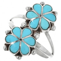 Turquoise Flower Ring 32196