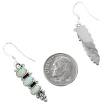 Navajo White Opal Earrings 32199