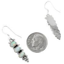 Navajo White Opal Earrings 32199