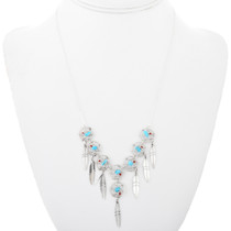 Native American Dreamcatcher Turquoise Necklace 32205