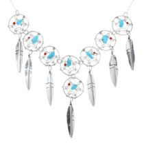Silver Dreamcatcher Necklace 32205
