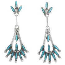 Zuni Needlepoint Turquoise Earrings 32206