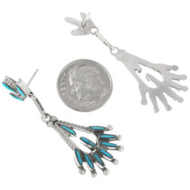 Sterling Silver Western Dangle Earrings 32206