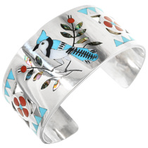 Zuni Turquoise Bluejay Bracelet 32207