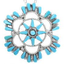 Turquoise Cluster Pendant 32208