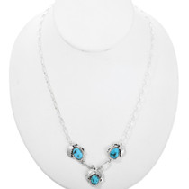 Sterling Silver Turquoise Necklace 32211