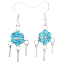 Navajo Turquoise Earrings 32213