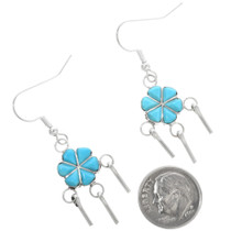 Western Turquoise Dangle Earrings 32213