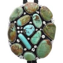 Vintage Navajo Turquoise Bolo Tie 32214