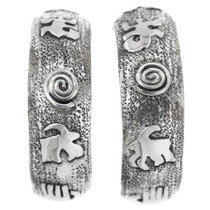 Silver Petroglyph Earrings 32227