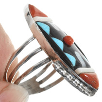 Zuni Inlay Turquoise Ring 32232