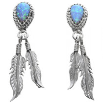 Opal Feather Earrings 32233