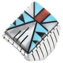 Navajo Geometric Pattern Mens Ring 32234