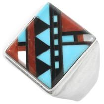 Zuni Turquoise Mens Ring 32241