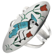 Zuni Blue Jay Ring 32243
