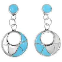 Turquoise Shell Dangle Earrings 32244