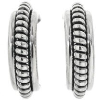 Sterling Silver Hoop Earrings 32246
