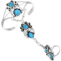 Navajo Turquoise Bracelet Ring Combo 32251
