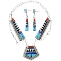 Zuni Turquoise Necklace Set 32252