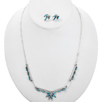 Zuni Turquoise Necklace Set 32255