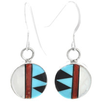 Zuni Inlay French Hook Earrings 32260