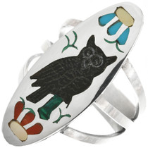 Zuni Inlay Owl Ring 32265