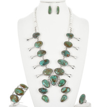 Turquoise Squash Blossom Necklace 32266