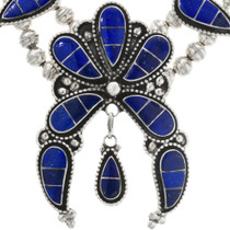 Sterling Silver Zuni Lapis Necklace 32275