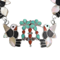 Zuni Inlay Turquoise Necklace 32279