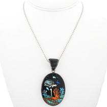 Coral Reef Design Turquoise Pendant 32295