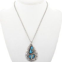 Turquoise Silver Snake Pendant 32296
