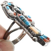 Inlaid Zuni Rainbow Man Ring 32298