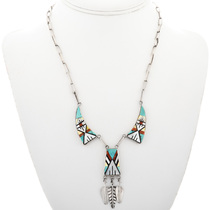 Zuni Inlaid Y Necklace 32302
