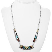 Handmade Turquoise Zuni Necklace 32315