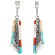 Vintage Zuni Turquoise Earrings 32316