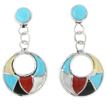 Turquoise Shell Inlay Earrings 32333