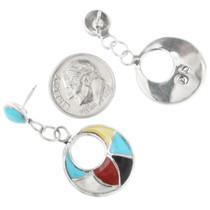 Western Native American Inlay Earrings 32333