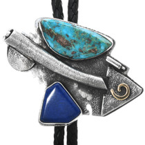 Morenci Turquoise Lapis Bolo Tie 32340